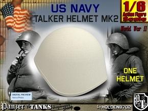 1-6 USN Mk2 Talker Helmet in White Strong & Flexible