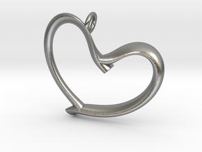 Valentine's in Natural Silver