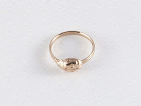 Ladybug Loved Midi Ring in 14k Rose Gold
