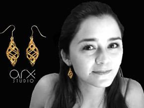 Capriccio Earrings in 18k Gold Plated
