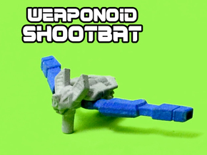 ShootBat Transforming Weaponoid Kit (5mm) in White Strong & Flexible