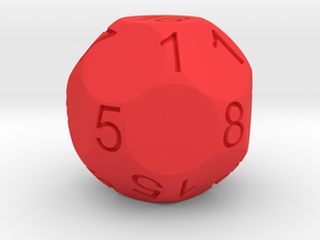 D17 Sphere Dice numbered from 0 to 16 in Red Strong & Flexible Polished