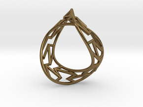 Infinity Frame Ring in Polished Bronze