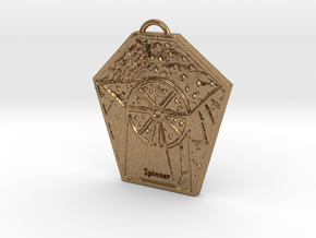 The Spinner's Wheel by ~M. in Natural Brass