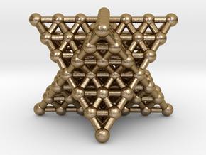 Merkaba Matrix - Star tetrahdron grid in Polished Gold Steel