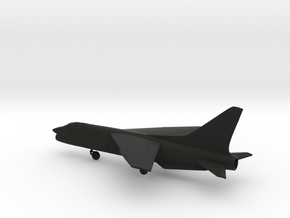 Vought F-8 Crusader airplane in Black Strong & Flexible: 1:160 - N