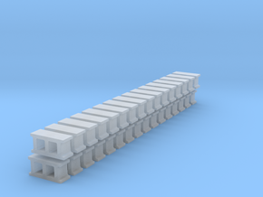 Cinderblocks in O Scale in Smooth Fine Detail Plastic