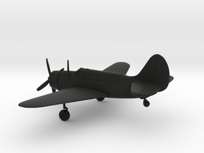 Curtiss SB2C Helldiver airplane in Black Strong & Flexible: 1:144