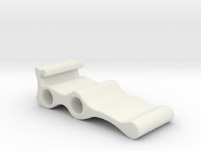 LLS Sample Holder  in White Natural Versatile Plastic