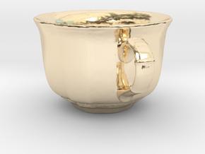 Tea Mug in 14K Yellow Gold: Small