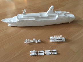 Arkona, Decks & Details (1:400, RC) in White Processed Versatile Plastic