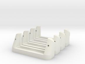 Servoholder-22mm-1-4pieces in White Natural Versatile Plastic