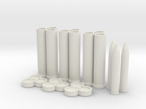 1:16 Pack Howitzer 75mm Ammo Bundle v1 in White Natural Versatile Plastic