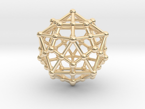 Dodecahedron - Icosahedron in 14K Yellow Gold