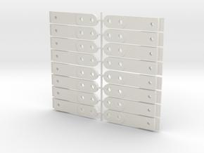 HO Scale Swinging coupler box in White Natural Versatile Plastic