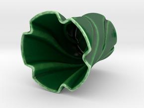 Vase in Gloss Oribe Green Porcelain