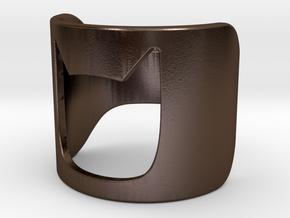 BAT GIRL Ring 178mm in Polished Bronze Steel