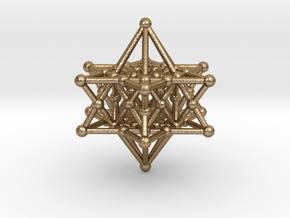 Merkiva Merkaba in Polished Gold Steel