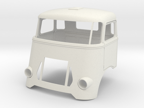 Trapezium-cab-1to13 in White Natural Versatile Plastic
