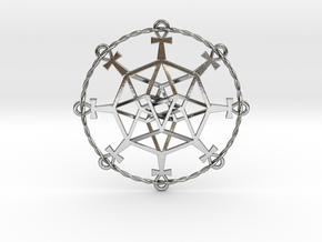 Ultra TesserAnkh Small in Polished Silver