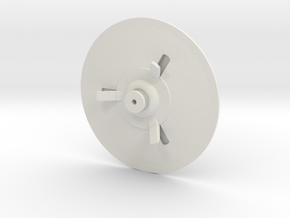 Flying Saucer 70mm in White Strong & Flexible