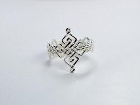 Celtic Ring - Size 7 in Polished Silver