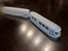 Tatra T2 H0 [body] in Smooth Fine Detail Plastic