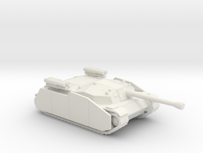 Zrinyi I with side armor and rockets Hungarian  in White Natural Versatile Plastic