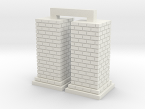HO Chimney - Large x 2 in White Natural Versatile Plastic