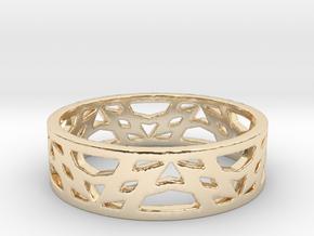 Lyrics Ring (size 4-13) in 14k Gold Plated Brass: 4 / 46.5