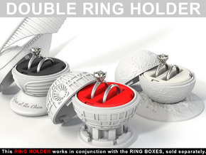 "DOUBLE INSERT RING HOLDER - To ""ALL NEW RING BOXES in Red Strong & Flexible Polished"