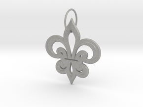 Heraldik Lilie 2 in Aluminum