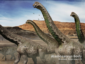 Alamosaurus Body (Total 80cm / 1:36) in White Strong & Flexible