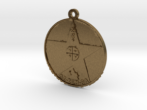 Metatronia Therapy Pendant in Natural Bronze