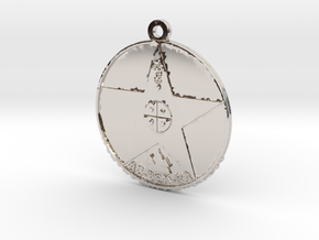 Metatronia Therapy Pendant in Rhodium Plated Brass
