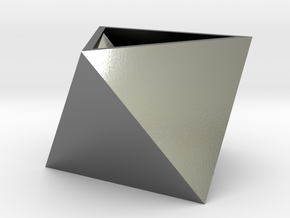 Triangular seedling planter in Polished Silver