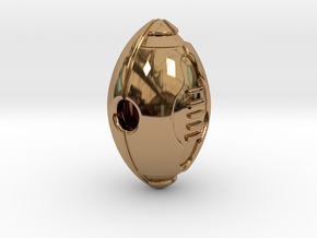 Pendant American Football Ball in Polished Brass
