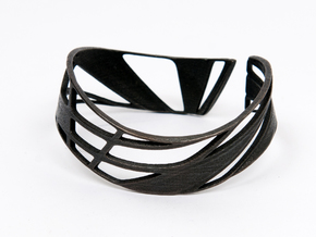 Triangulation Bracelet in Matte Black Steel