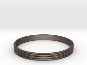 Bracelet  Ø2.5 Inch- Ø64 Mm in Polished Bronzed Silver Steel