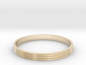 Bracelet  Ø2.5 Inch- Ø64 Mm in 14k Gold Plated Brass