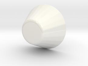 SAKI Cup in Gloss White Porcelain