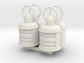 Lamp 4 pcs. in White Natural Versatile Plastic