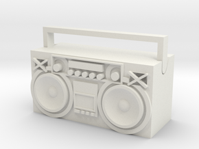 Boombox in White Natural Versatile Plastic