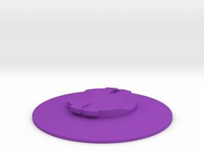 Garmin Quarter-Turn Flat Mount in Purple Strong & Flexible Polished