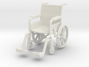 Wheelchair 01. 1:32 Scale in White Strong & Flexible