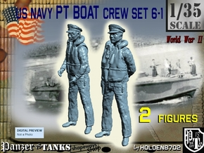 1-35 US Navy PT Boat Crew Set6-1 in Smooth Fine Detail Plastic