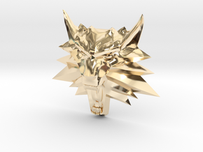 Ornament Witcher2 in 14k Gold Plated Brass