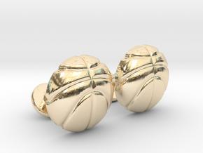 Basketball CuffLinks in 14k Gold Plated Brass