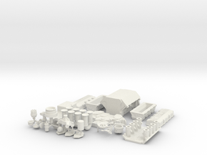 1/18 Ford 427 SOHC in White Natural Versatile Plastic