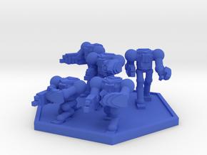 Colour Rim Bastion AECA MK I Squad (Hex) in Blue Processed Versatile Plastic